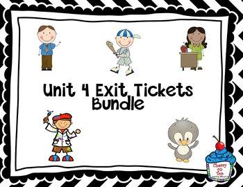 Journeys-Unit 4 Exit Tickets Bundle