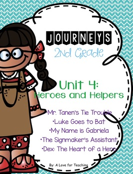 Journeys Unit 4 Heroes and Helpers Grade 2 {Editable}