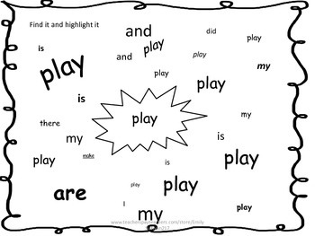 Journeys Unit 5 Kindergarten Sight Word Worksheets