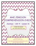 Journeys Unit 4 - Lesson 16 - Mae Jemison Assessment