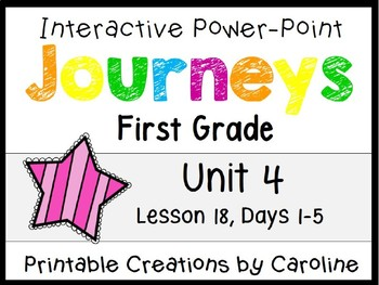 Journeys Unit 4 Lesson 18 Interactive Power Point, First Grade