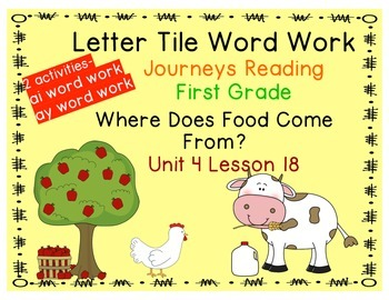 Where Does Food Come From? Letter Tiles for ai, ay Journey