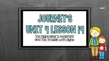 Journeys Unit 4 Lesson 19 Vocabulary Introduction Powerpoint