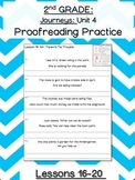 Journeys Unit 4 Proofreading Practice 2nd grade