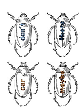 Journeys Unit 4 Sight Word Bugs (1st grade)