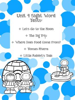 Journeys Unit 4 Sight Word Tests