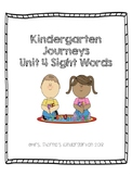 Journeys Unit 4 Sight Words Bundle