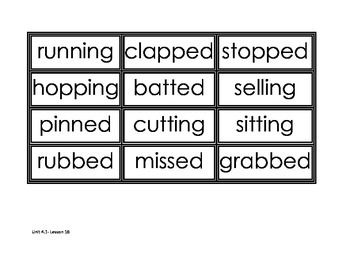 Journey's Unit 4 Spelling Cards