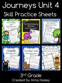 Journeys Unit 4 (Third Grade): Skill Practice Sheets