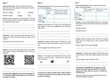 Journeys Unit 4 review week trifold