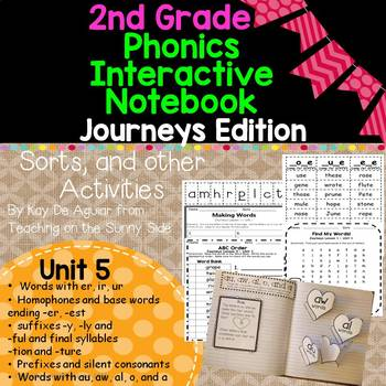 Journeys Unit 5 2nd Grade Phonics Skills, Interactive Note