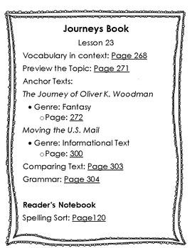 Journeys Unit 5 Book Pages