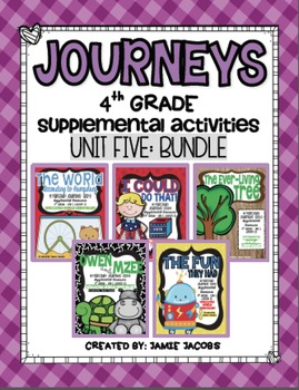 Journeys Unit 5 Bundle - Fourth Grade Supplemental Material