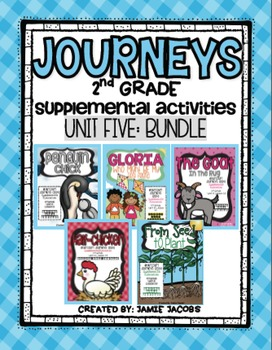 Journeys Unit 5 Bundle - Second Grade Supplemental Materials