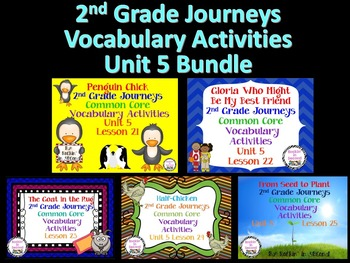 Journeys Unit 5 Bundle Vocabulary Activities 2nd grade