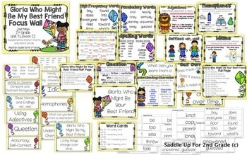 Journeys Unit 5 Focus Wall and Anchor Charts and Word Wall Cards