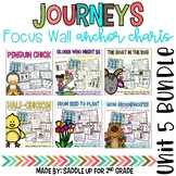 Journeys Unit 5 Focus Wall and Anchor Charts and Word Wall Cards Bundle