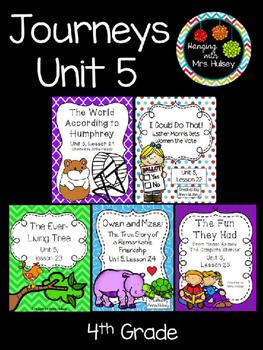 Journeys Unit 5 (Fourth Grade)