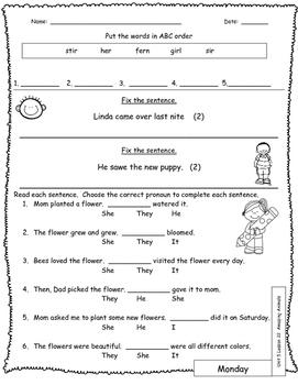 Journeys Unit 5 Lesson 22 Amazing Animals Daily Language Review