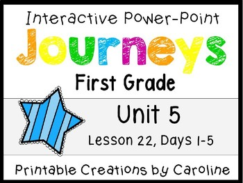 Journeys Unit 5 Lesson 22 Interactive Power Point, First Grade