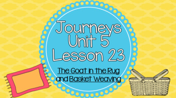 Journeys Unit 5 Lesson 23 Vocabulary Introduction PowerPoint