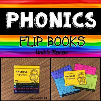 Journeys Unit 5 Review  | Phonics Flip Book