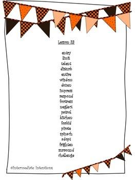 Journeys Unit 5 Spelling Lists - 5th Grade