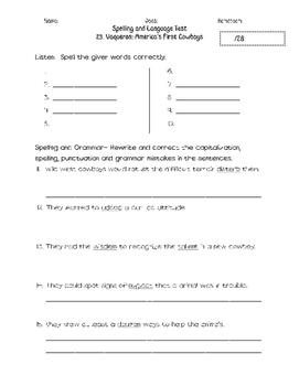 Journeys Unit 5 Spelling and Grammar Tests