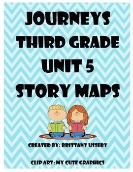 Journeys Unit 5 - Third Grade - Story Maps Graphic Organizer