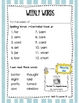 Journeys Unit 5 Weekly Words to Know Lists