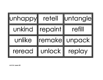 Journey's Unit 5 spelling cards