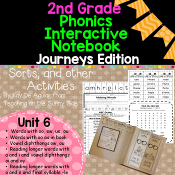 Journeys Unit 6 2nd Grade Phonics Skills, Interactive Note