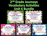 Journeys Unit 6 Bundle Vocabulary Activities 2nd grade
