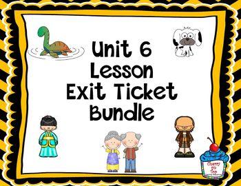 Journeys-Unit 6 Exit Tickets Bundle