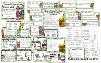 Journeys Unit 6 BUNDLE Focus Wall and Anchor Charts and Word Wall Cards