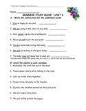 Journeys-Unit 6 Grammar Study Guide