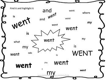 Journeys Unit 6 Kindergarten Sight Word Worksheet Packet