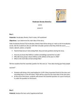 Journey's Unit 6 Lesson 1: A Footrace Across America Unit