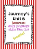 Journey's Unit 6 Lesson 26 Freebie Daily Language
