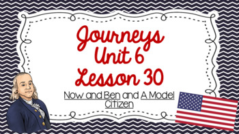 Journeys Unit 6 Lesson 30 Vocabulary Introduction PowerPoint