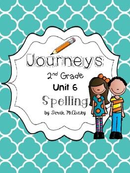 Journeys Unit 6 Spelling Activities Grade 2