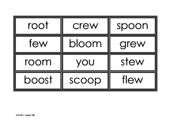 Journey's Unit 6 Spelling Cards