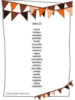 Journeys Unit 6 Spelling Lists - 5th Grade