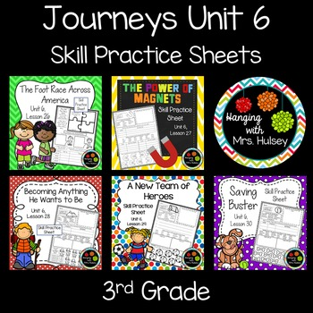 Journeys reading test 3rd grade teaching resources teachers pay journeys unit 6 third grade skill practice sheets fandeluxe Gallery