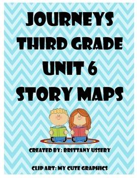 Journeys Unit 6 - Third Grade - Story Maps Graphic Organizers