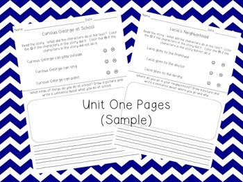Journeys - Unit One Comprehension Pages