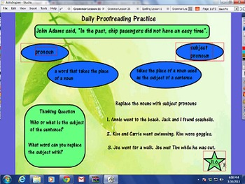 Journeys Units 1-6 Lessons 1-30 Grammar