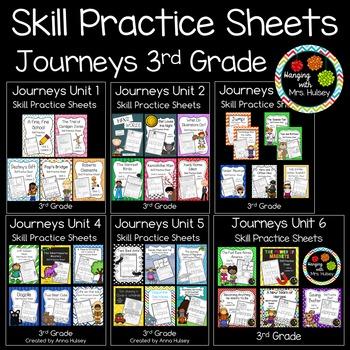 Journeys Units 1-6 (Third Grade): Skill Practice Sheets