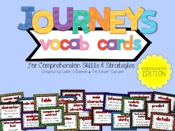 Journeys Vocab Cards for Comprehension Skills & Strategies-Kindergarten Edition