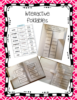 Journeys Vocabulary 2012 2nd Grade Word Sorts and Interactive Notebook Ideas